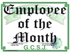 CLICK HERE - GCSJ Employee of the Month